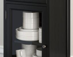 Pottery Barn - GLASS DOOR CABINET 3D