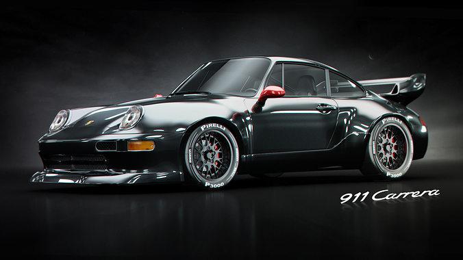 porsche 911 gt2 3d model max fbx 1
