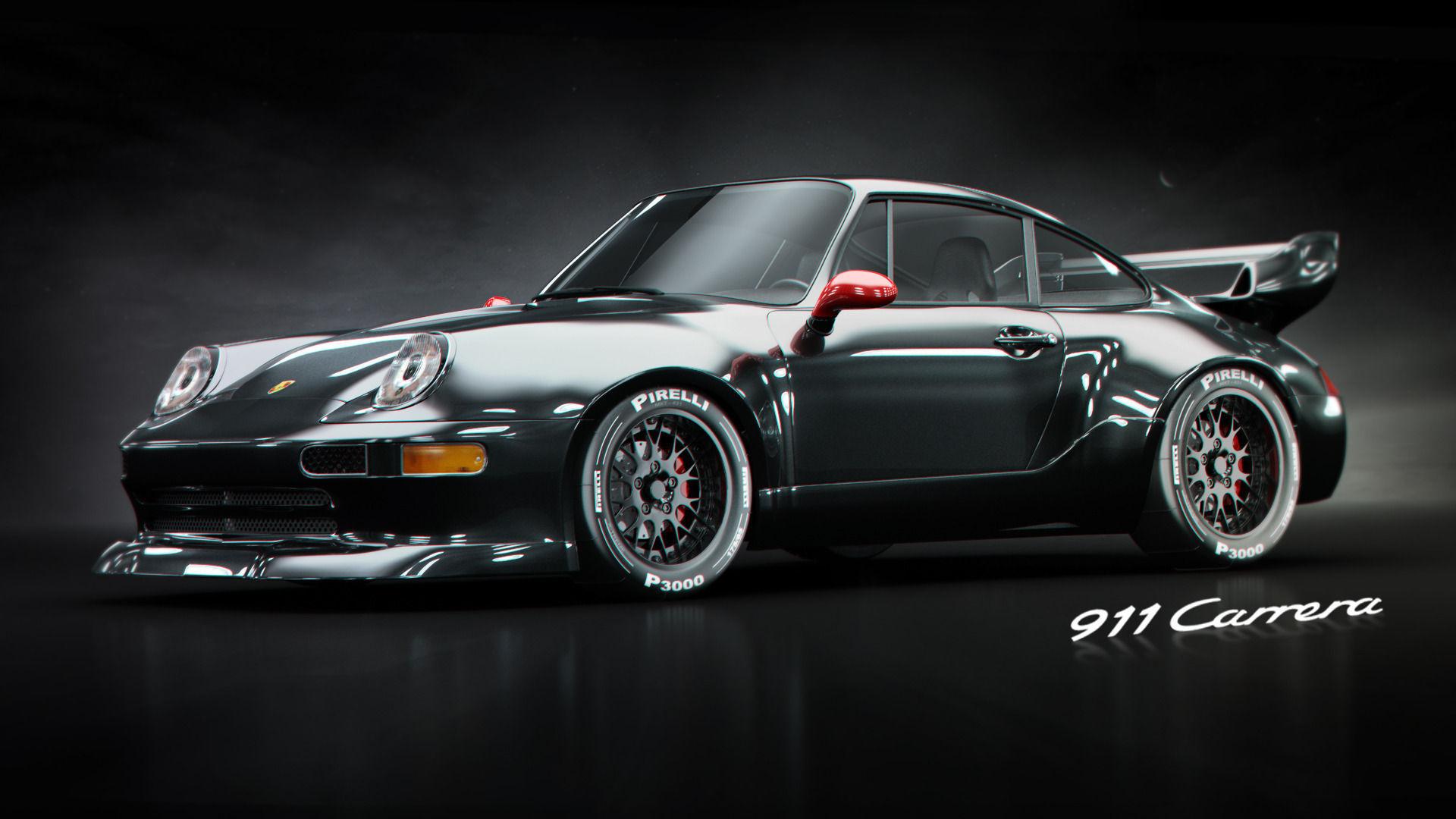 porsche 911 gt2 3d model max. Black Bedroom Furniture Sets. Home Design Ideas