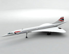 Concorde Jet - British Airways 3D model