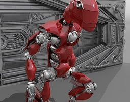 3D asset ROBOT DINOSAUR RIGGED AND ANIMATED