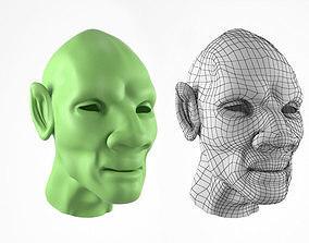 Fantasy Humanoid Head 3D Model game-ready