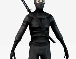 Ninja with Katana 3D model