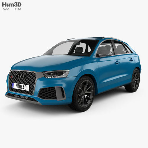 audi rs q3 performance 2017 3d model max obj mtl 3ds fbx c4d lwo lw lws 1