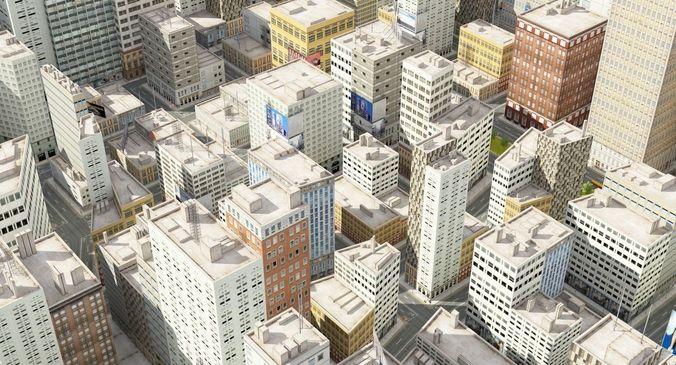 3d city rt day 3d model max 1