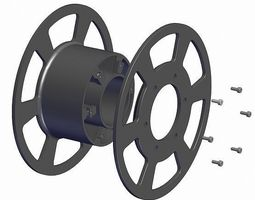 Reel for 3d printer and fishing line