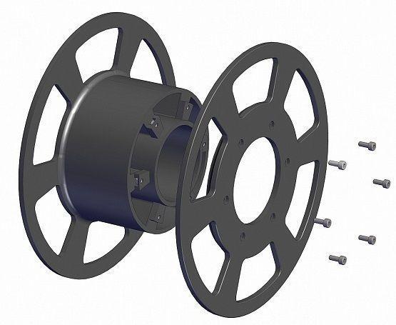 reel for 3d printer and fishing line 3d model stl 1