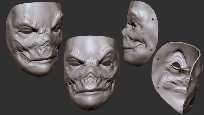 evil mask 3d model obj mtl stl 1