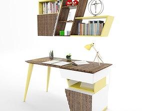 Tarz Study Desk 3D asset