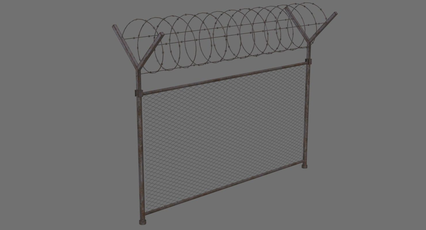 Barbed Wire Fence 1B