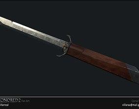 3D printable model Dishonored Corvos Sword