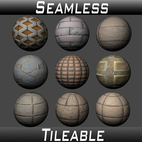 floor tiles texture pack 6 3d model  1