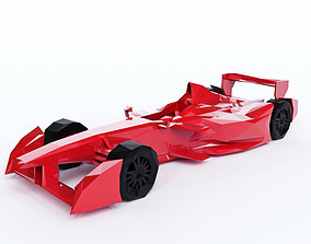 Bolide F1 Low Poly 3D asset
