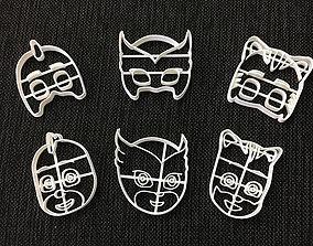 Cookie Cutter Pj Mask Six Pack 3D print model