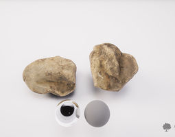 River rock 008 - Photogrammetry 3D asset