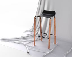 Scandinavian Design Modern Bar stool 3D model