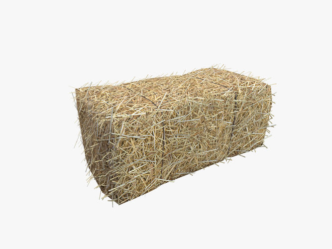 low poly hay bale with lod 3d model obj mtl fbx ma mb 1