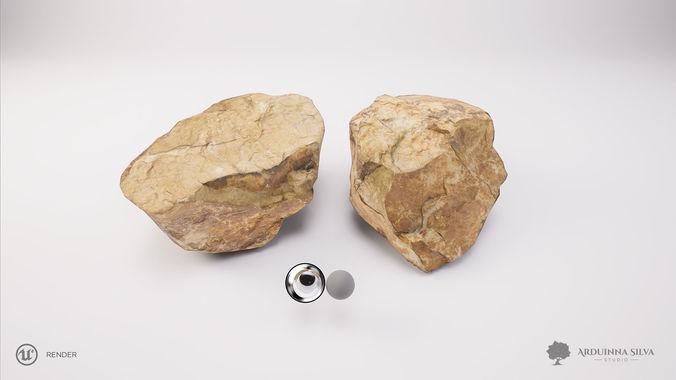 stone 002 - photogrammetry 3d model obj mtl fbx tga 1