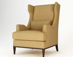 Baker Westminster Wing Chair 3D model
