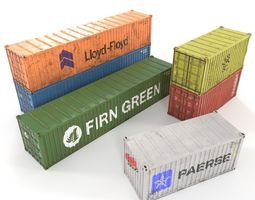 Shipping container collection 3D asset