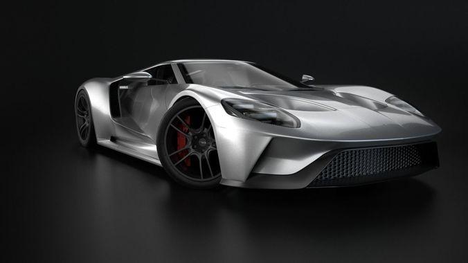 gt 2017 racing car model 3d model max obj mtl 3ds fbx ma mb blend 1