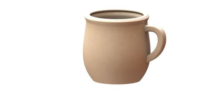 arabic clay pot 3d model stl sldprt sldasm slddrw pdf 1