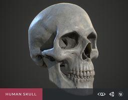 Human Skull 3D model low-poly