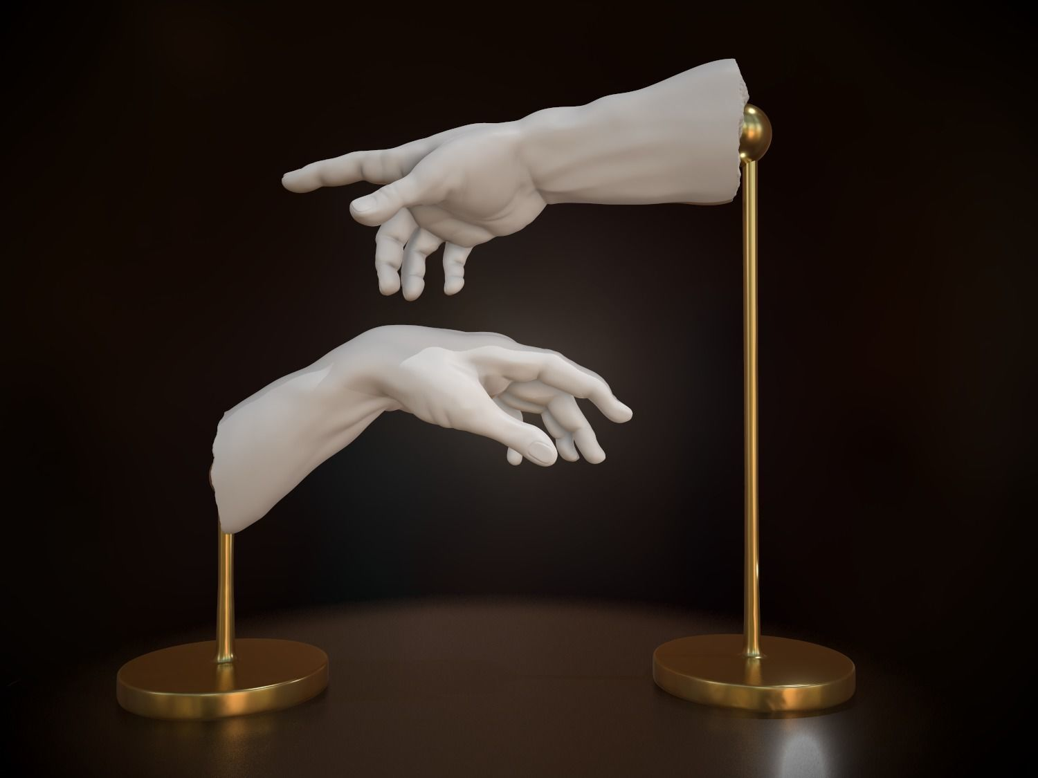 The Creation of Adam 3D printing