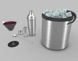 Cocktail-and-Shaker 3D Model