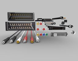 Electronic-Cables-Pack 3D Model