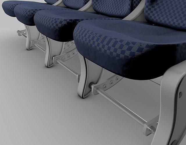 airplane-seats 3d model obj 3ds fbx c4d dxf 1