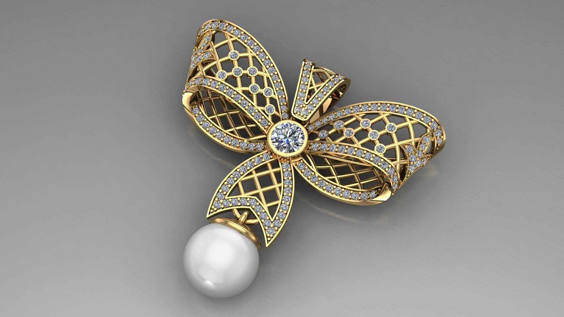 Pearls Pendant Butterfly