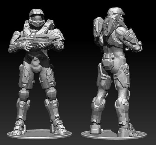 Master Chief Halo model 3D for printing | 3D Print Model