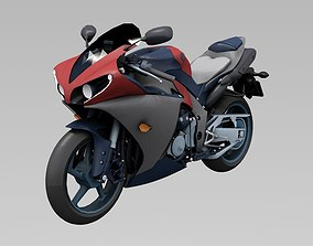 Yamaha YZF Low poly 3D asset