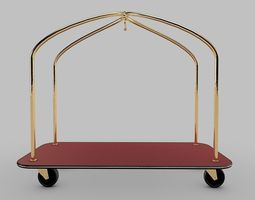 Hotel-Cart-Trolley 3D Model
