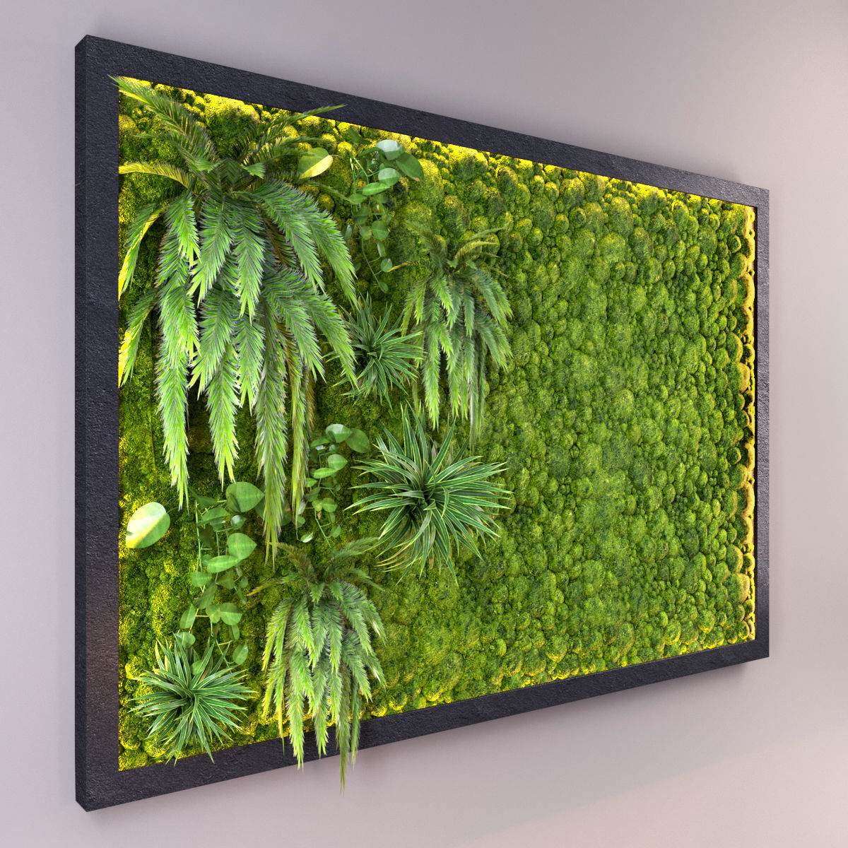 3d Fito Wall With Moss Cgtrader Green Ecer Model Max Obj Mtl Fbx 1