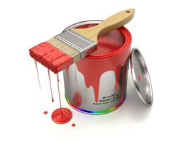 Paint Can and Brush 3D