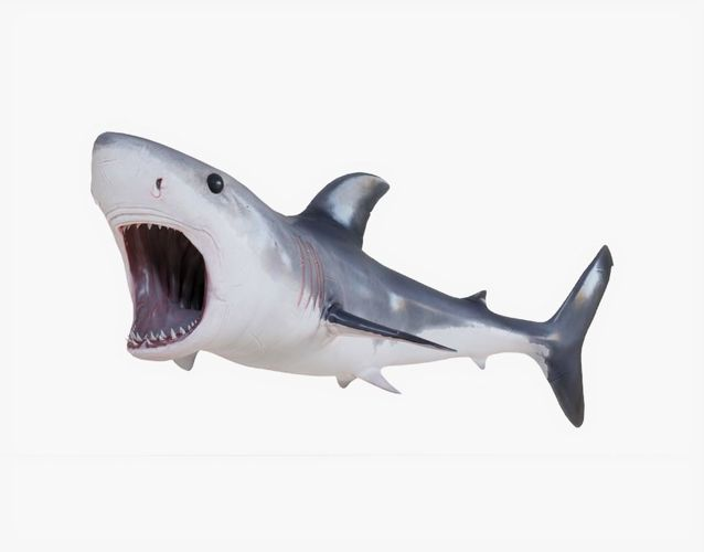 great white shark 02 animated 3d model rigged animated obj mtl 3ds fbx stl blend dae 1