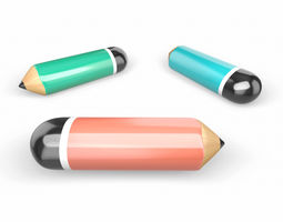 3D model Cute Pencil SET