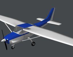 VR / AR ready prop plane 2 3d asset