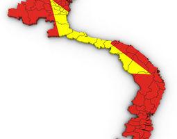3d Political Map of Vietnam