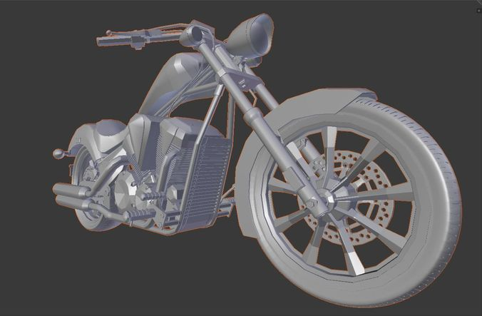 motorcycle high quality 3d model stl 1