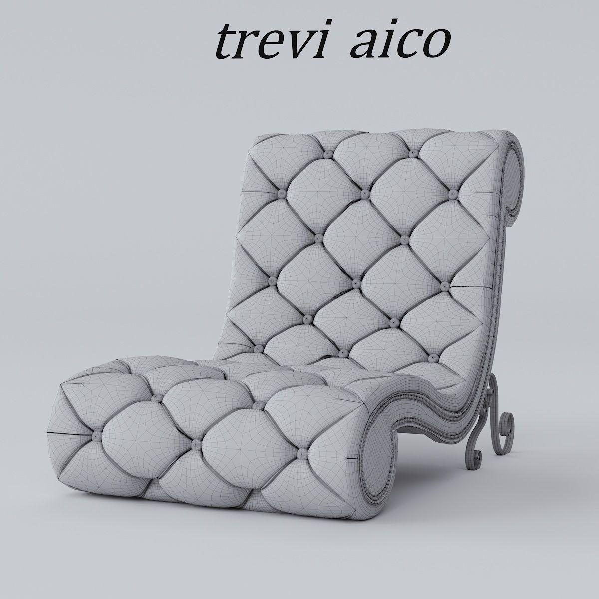 ... Armchair Chaise Lounge Trevi Aico 3d Model Max Obj Mtl Fbx Stl 4