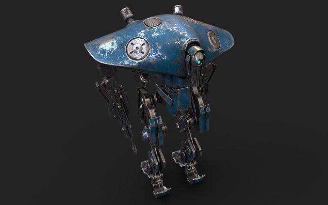 heavy robot vex700 3d model max obj mtl 3ds fbx 1