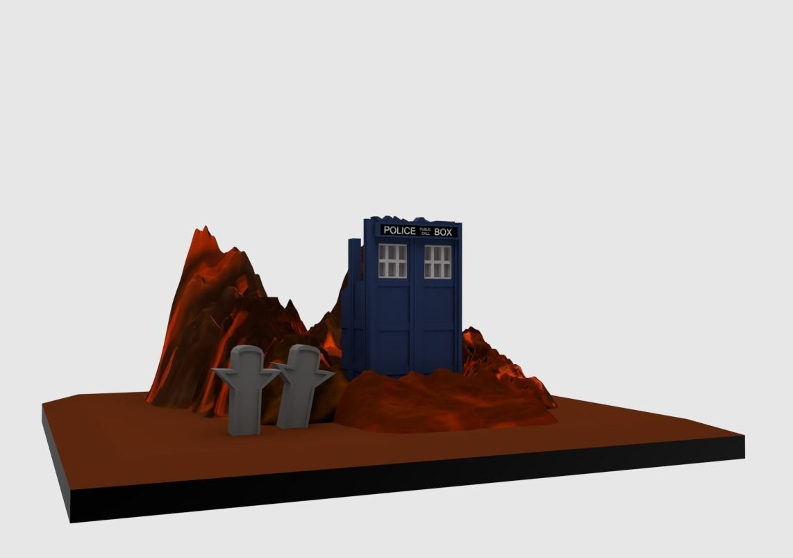 photo about Printable Diorama referred to as Diorama Medical doctor Who Trenzalore 3D Print Fashion