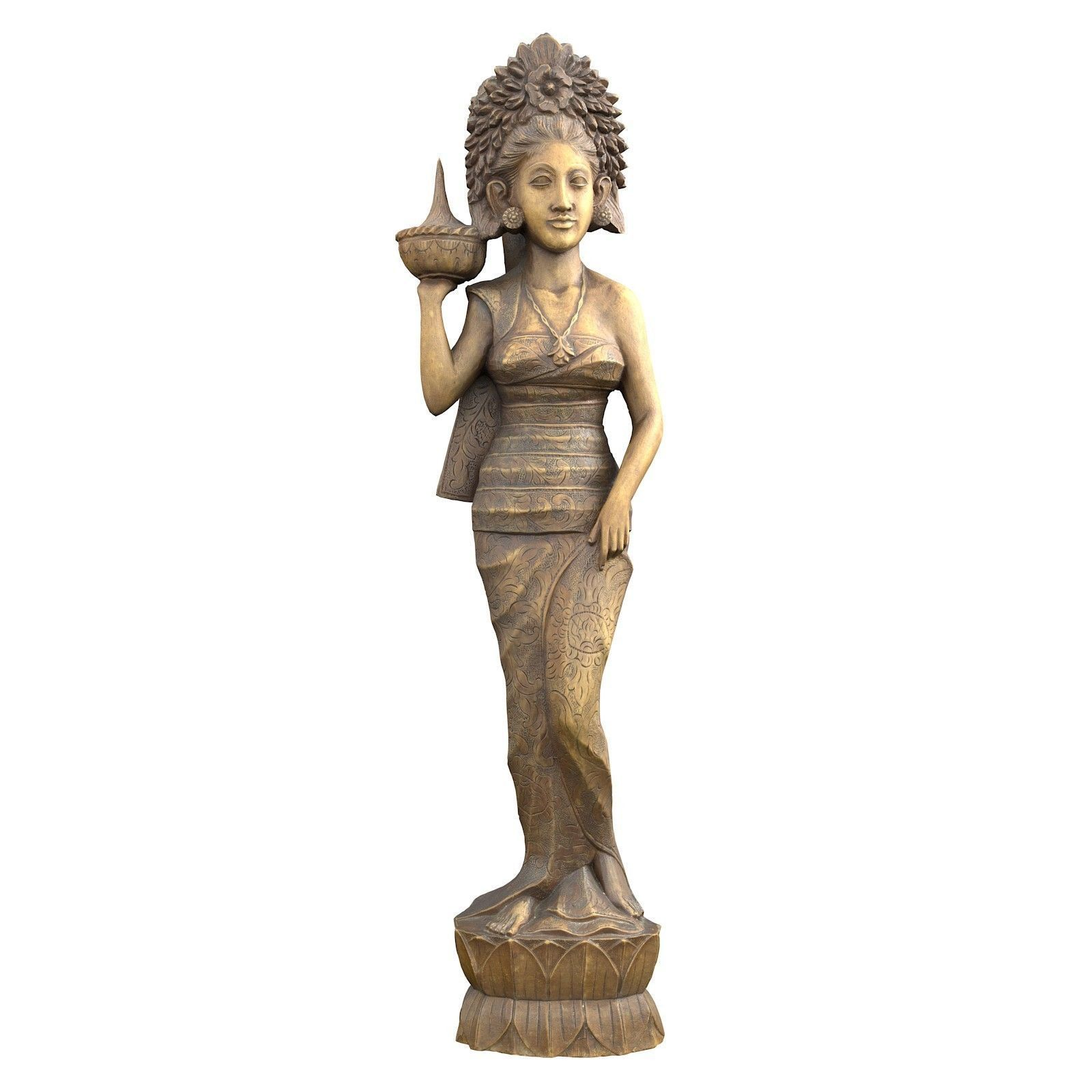 Oriental Woman Carving