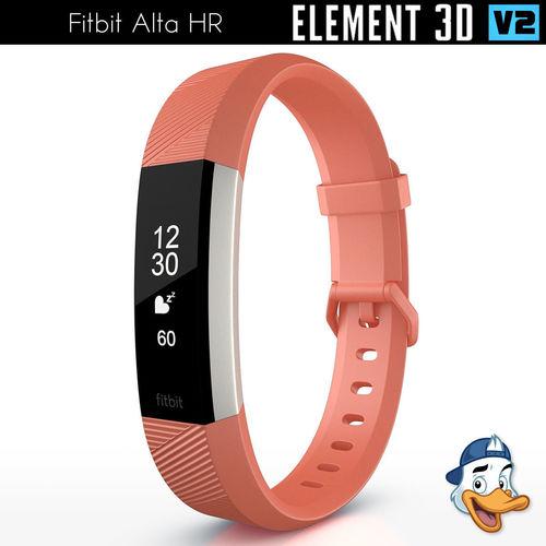 fitbit alta hr for element 3d 3d model c4d 1