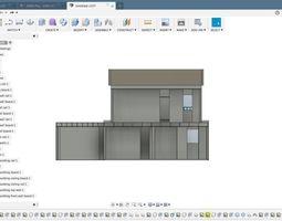 3D print model house design