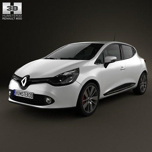 Renault Clio 4: 3D Model Renault Clio IV 2013