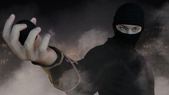 ninja 3d model low-poly obj mtl fbx 1